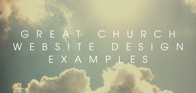 Great Church Website Design Examples