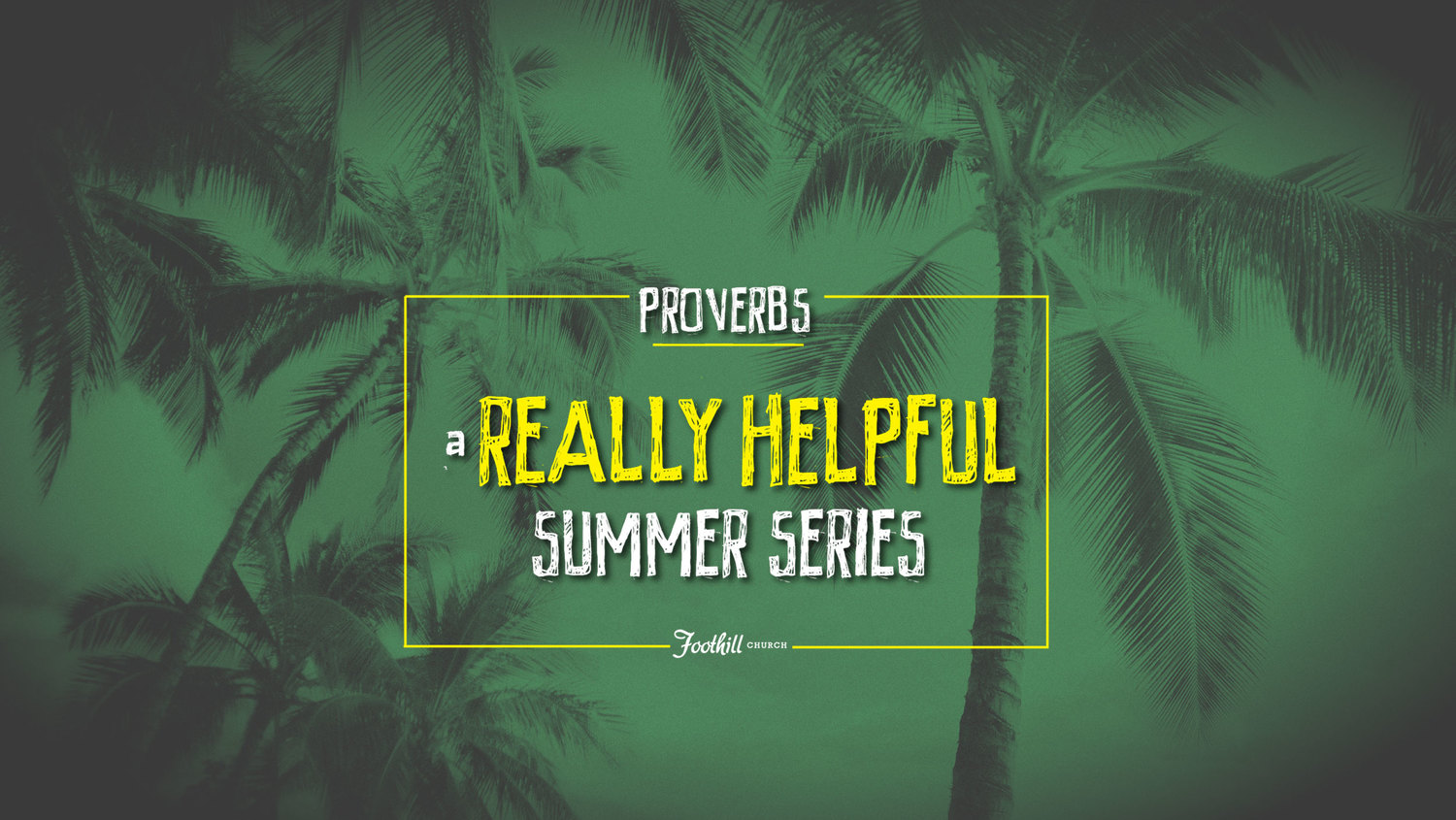 A Really Helpful Summer Series Sermon