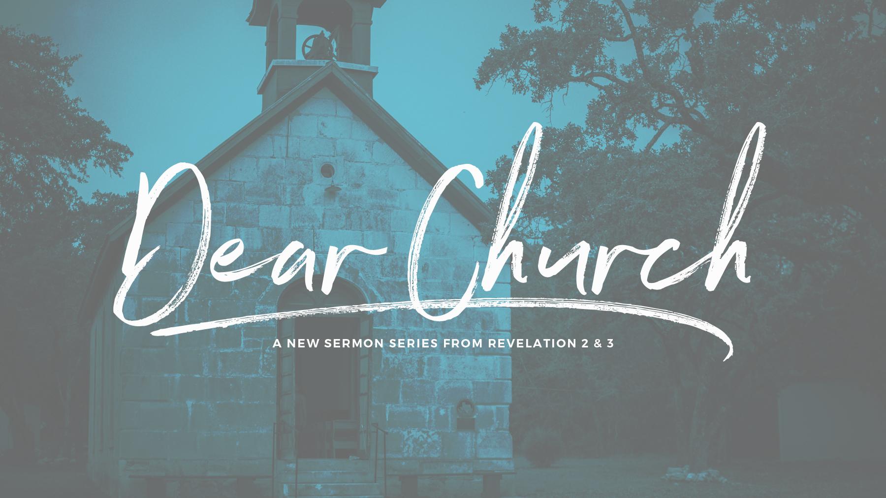 Dear Church – Church Sermon Series Ideas