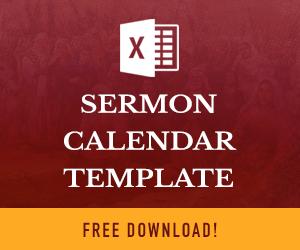 Sermon Calendar Template