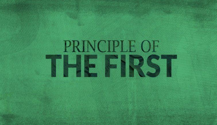 The Principle of the First Sermon Series Idea